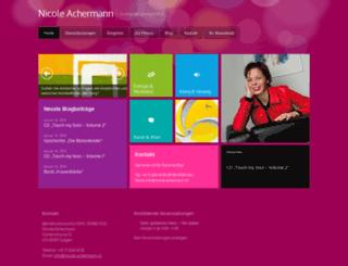 nicole-achermann.ch screenshot