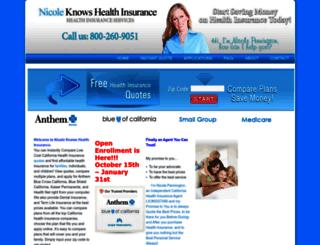 nicoleknowshealthinsurance.com screenshot