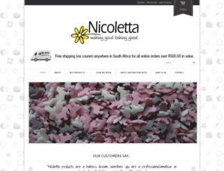nicoletta.co.za screenshot
