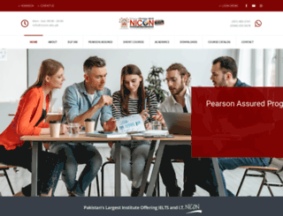 nicon.edu.pk screenshot