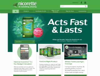 nicorette.com.au screenshot
