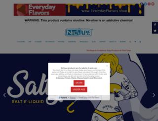 nicvape.com screenshot