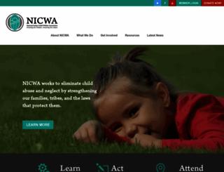 nicwa.org screenshot