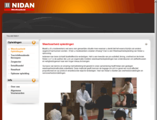 nidan.nl screenshot