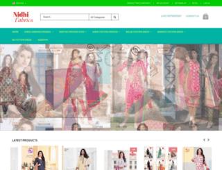 nidhifabrics.com screenshot