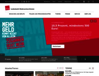 niedersachsen-bremen.verdi.de screenshot