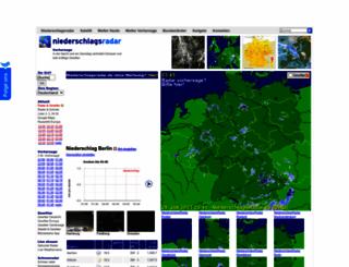 niederschlagsradar.de screenshot