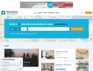 nieuwbouw-in-amsterdam.nl screenshot