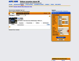 nievre.autocadre.com screenshot