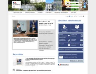 nievre.pref.gouv.fr screenshot