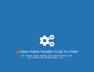 nif.mof.gov.vn screenshot