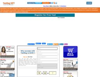 nift.testbag.com screenshot