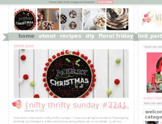 niftythriftythings.blogspot.com screenshot