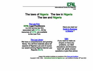 nigeria-law.org screenshot