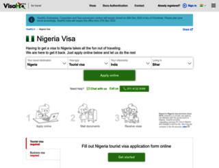 nigeria.visahq.in screenshot