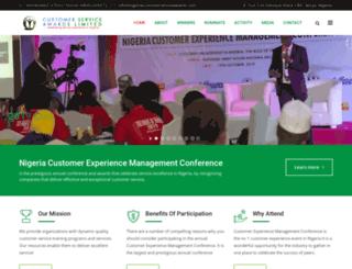 nigeriacustomerserviceawards.com screenshot