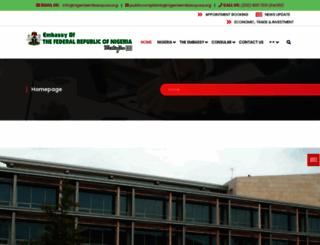nigeriaembassyusa.org screenshot