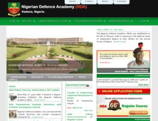 nigeriandefenceacademy.edu.ng screenshot