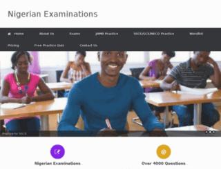 nigerianexaminations.com screenshot