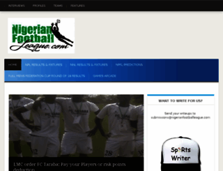 nigerianfootballleague.com screenshot