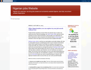 nigerianjobrecruiter.blogspot.com screenshot