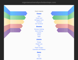nigerianuniversityscholarships.com screenshot