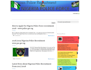 nigeriapoliceforceform.blogspot.com screenshot