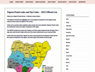 nigeriapostcodes.com screenshot