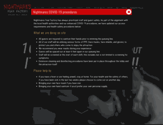 nightmaresfearfactory.com screenshot