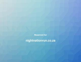 nightnationrun.co.za screenshot