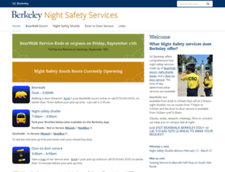 nightsafety.berkeley.edu screenshot