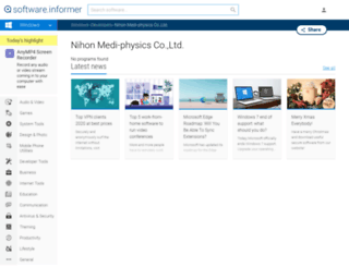 nihon-medi-physics-co-ltd.software.informer.com screenshot