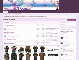 niight.creapoemes.com screenshot
