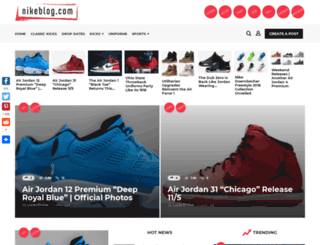 nikeblog.com screenshot