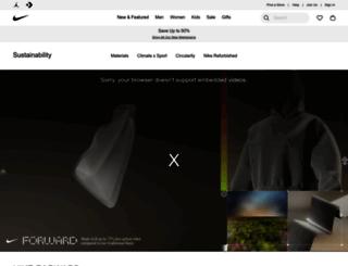 nikeresponsibility.com screenshot