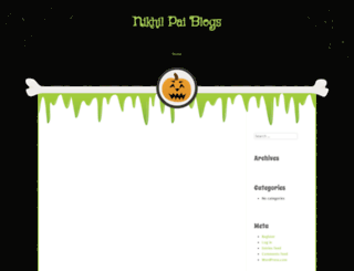 nikhilpaiblogs.wordpress.com screenshot
