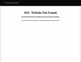niki-and-david.gettingmarried.co.uk screenshot