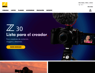 nikon.com.mx screenshot
