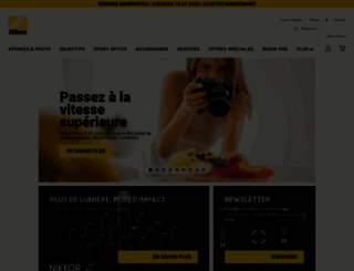 nikon.fr screenshot