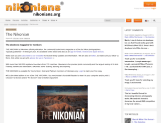 nikonian.org screenshot