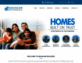 nikunjambuilders.com screenshot
