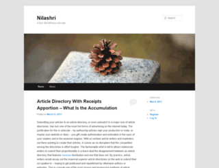 nilashri.wordpress.com screenshot