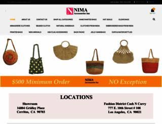 nimahandbags.com screenshot