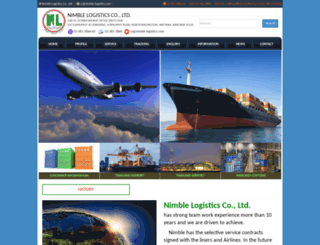 nimble-logistics.com screenshot