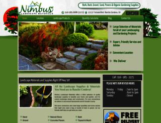 nimbuslandscapematerials.com screenshot