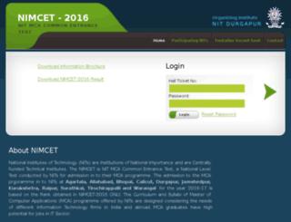 nimcet2016.nitdgp.ac.in screenshot