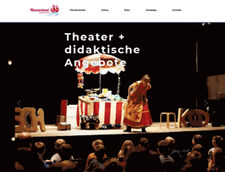nimmerland-theaterproduktion.de screenshot
