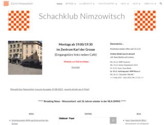 nimzowitsch.ch screenshot