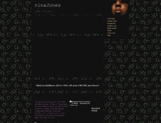 ninajones.webs.com screenshot
