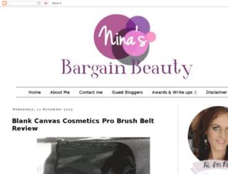 ninasbargainbeauty.blogspot.com screenshot